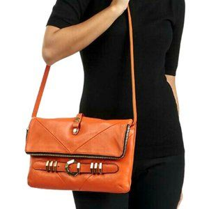 orYANY Orange Rocker Flap-Top Clutch Crossbody Bag